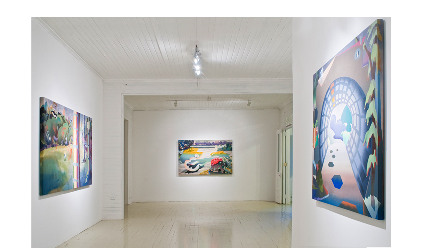Installation view, KINGS PARK at Roberto Paradise, Melissa Brown