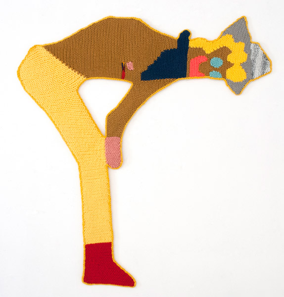 Frank N' Furter's Golden Trophy, 2015 | Hand crocheted assorted wool