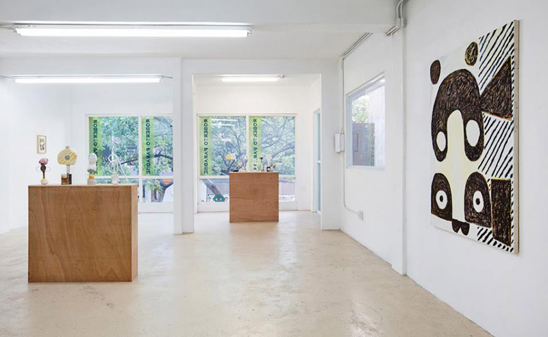 "Installation view, ""Finger, Nose, Thumb"" at Roberto Paradise, Austin Eddy"