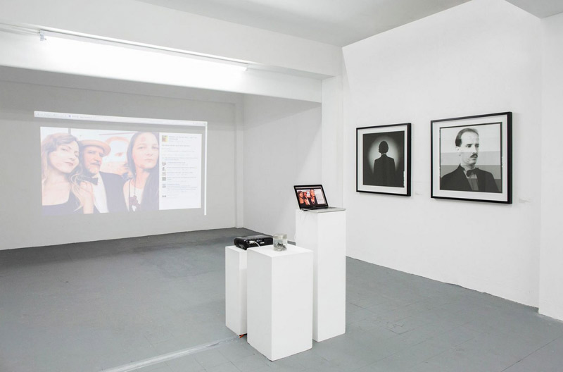 Installation view, I Was a Schizophrenic Mambo Dancer for the FBI / Go Fuck Your Selfie at Roberto Paradise, ADÁL