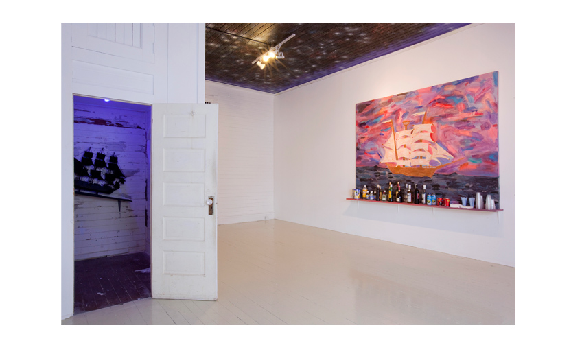 "Installation view Sal Si Puedes at Roberto Paradise, Radames ""Juni"" Figueroa"