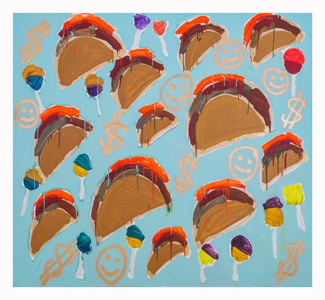 "Katherine Bernhardt – ""Tacos and Money"", 2013"