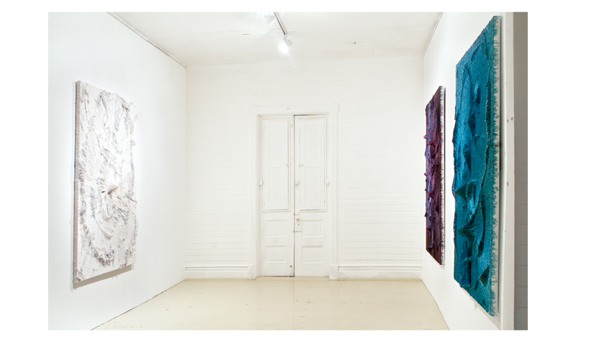 Installation view, NEW GLOUNDS at Roberto Paradise, Timothy Bergstrom