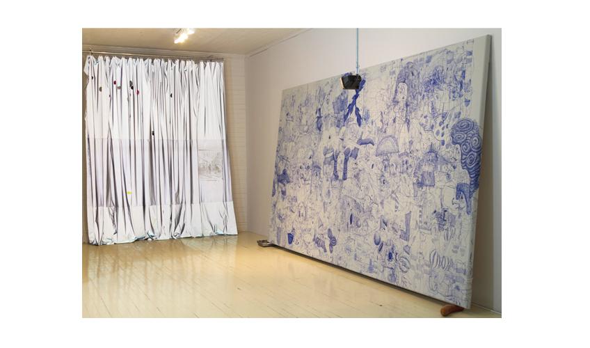 Installation view Jíbaro Jizz at Roberto Paradise, José Lerma