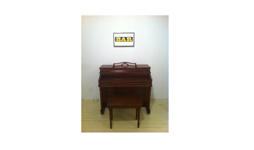 Piano Bar, 2012  |  Water-based enamel laminated on wood, Spinet toy piano, dimensions variable
